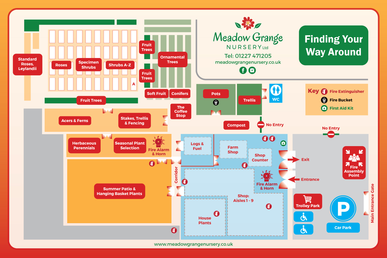 Explore Meadow Grange Nursery with our Layout Map |